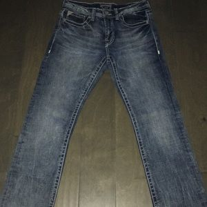 •Mens Buckle Salvage Jeans